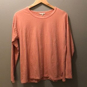 Sundry peachy long sleeve Tee size 2 (M to L)